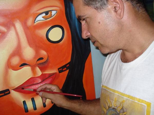 Leg: Exposição de Pedro Guilherme propõe uma reflexão sobre os indígenas - Crédito: Foto : Divulgação