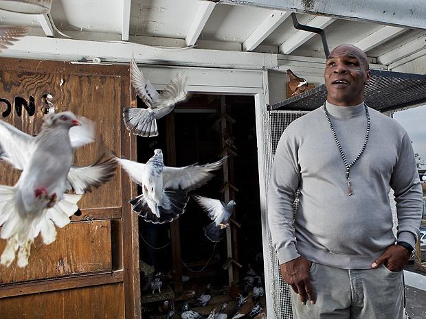 Mike Tyson cria pombos em cima do ginásio em que aprendeu a lutar boxe. \'Alguns estão aqui há 14 anos\' - Crédito: Foto: Divulgação