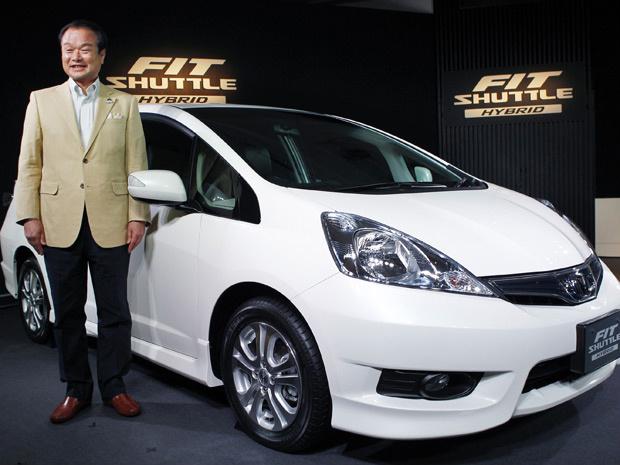 Presidente da Honda Motor, Takanobu Ito, apresenta o modelo de forma informal - Crédito: Foto: Koji Sasahara/AP