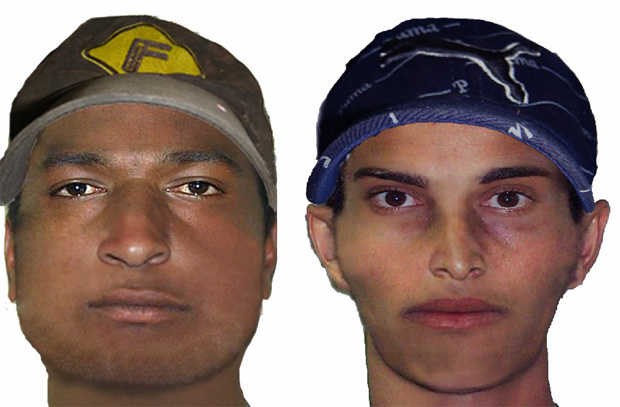 Retrato falado foi feito por peritos com base em depoimentos de testemunhas - Crédito: Foto: Divulgação/PC
