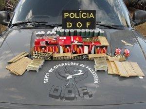 Os 4.494 cartuchos de munição apreendidos na  ambulância - Crédito: Foto: Divulgação/DOF