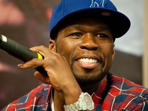 O rapper 50 Cent durante entrevista em São Paulo  - Crédito: Foto: Flávio Moraes/G1