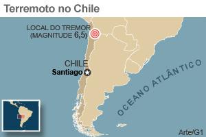 Forte tremor atinge o norte do Chile -