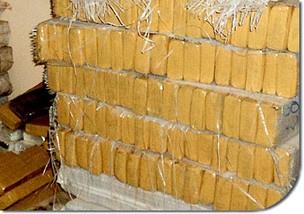 Carga de meia tonelada de maconha apreendida em Paranaíba - Crédito: Foto: Divulgação/PM