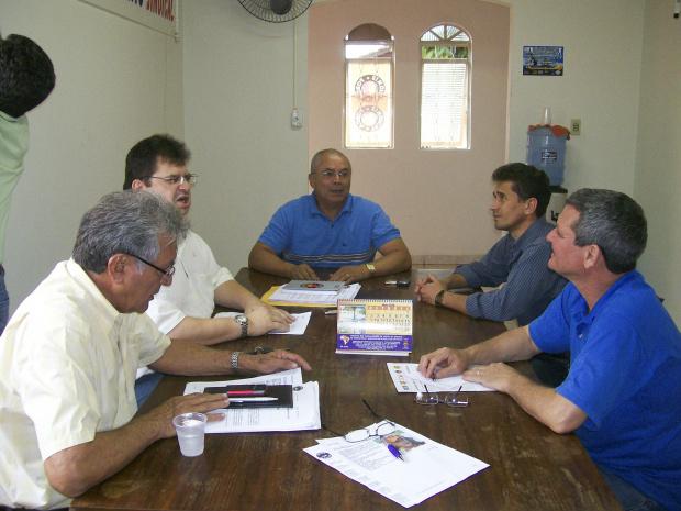 Representantes de centrais se reunem para preparar a mobilização - Crédito: Foto : divulgação