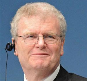 Howard Stringer, presidente e diretor-executivo da Sony - Crédito: Foto: AFP