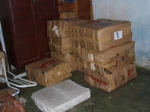Droga foi encontrada em casa na rua Itapema  - Crédito: Foto: Divulgação/PF