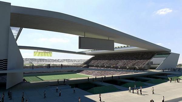 Projeto para o estádio em Itaquera. - Crédito: Divulgação
