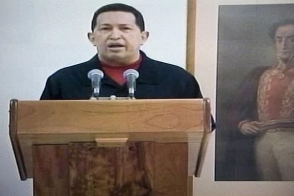 Chávez falou em um discurso transmitido pelas TVs venezuelanas, direto de Cuba - Crédito: Foto: AP