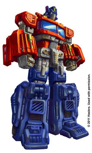 Ilustração para embalagem do brinquedo de Optimus Prime - Crédito: Foto: Marcelo Matere/Arquivo pessoal