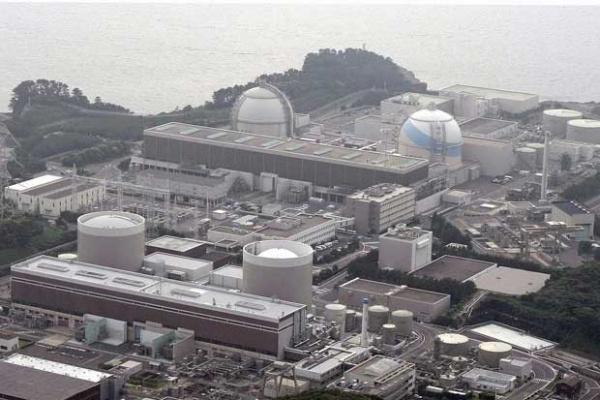 Visão aérea da usina nuclear de Genkai. - Crédito: Foto: Kyodo / Reuters