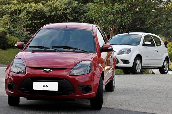 Ford Ka 2012 teve o para-choque redesenhado - Crédito: Foto: Divulgação