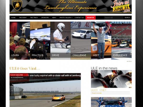 No canto inferior, vídeo mostra esquilo cruzando a pista - Crédito: Foto: Reprodução/Ultimate Lamborghini Experience