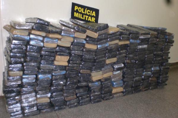 Droga estava acondicionada em tabletes e foi apreendida pela polícia em MS - Crédito: Foto: Divulgação/PM
