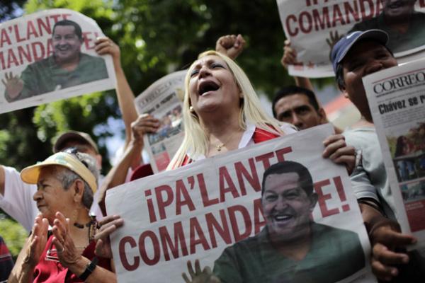 Venezeuelanos celebram nesta segunda-feira - Crédito: Foto: AP