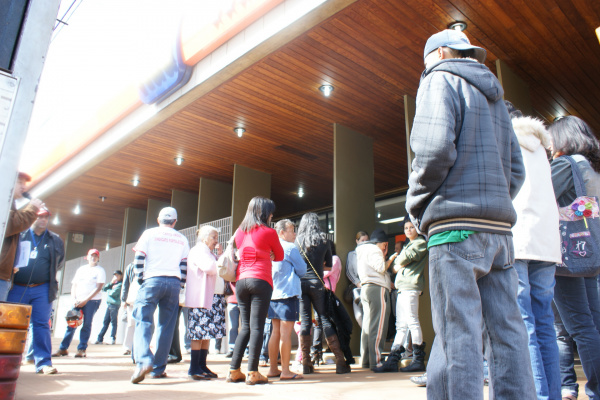 Mobilização de bancários reuniu dezenas de trabalhadores - Crédito: Foto: Hedio Fazan/PROGRESSO