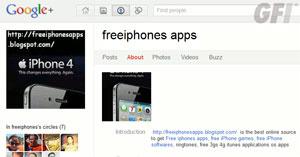 Perfil  no Google+ oferece aplicativos piratas para iPhone - Crédito: Foto: Reprodução/GFI