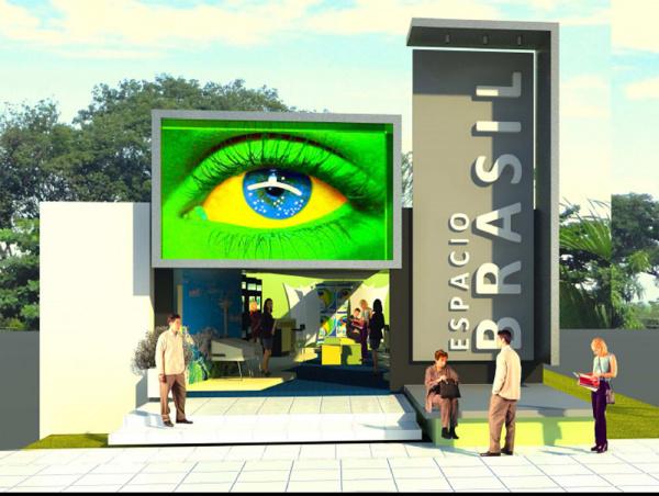 Estande da Federação das Indústrias de MS na Expo 2011 no Paraguai - Crédito: Foto: Divulgação