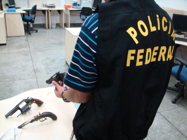 Em Dourados, armas de fogo recolhidas na PF são encaminhadas ao Exército Foto: PF  -