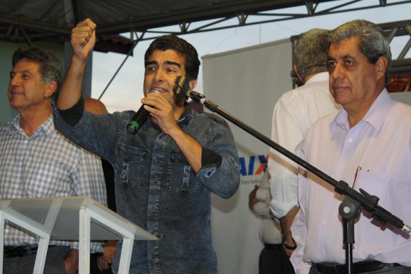 Murilo elogia atuação de Marçal em Brasília durante discurso no Cras da Cachoeirinha - Crédito: Foto: Divulgação