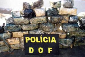 Cocaína estava camuflada em fundo falso de carro  - Crédito: Foto: Divulgação/ DOF