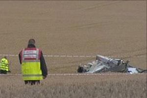 Skyraider logo após acidente - Crédito: Foto: BBC