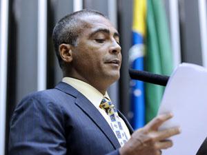 O deputado federal Romário - Crédito: Foto: Agência Câmara