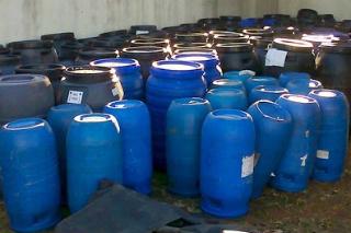 Maconha era transportada em carregamentos de tambores para uso rural. - Crédito: Foto: Divulgação/Polícia civil