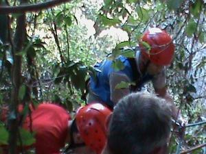 Resgate realizado pelo Corpo de Bombeiros durou cerca de quatro horas. - Crédito: Foto: Luiz Guilherme Brandani /Tanosite.com/Divulgação