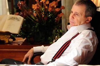 Daniel Filho como Salomão Hayalla em 'O astro': nem o ator saberá quem é o assassino - Crédito: Foto: TV Globo