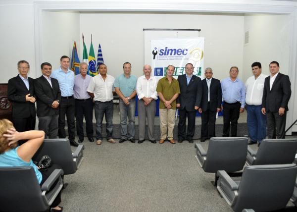 Presente na posse da nova diretoria do Simec, o presidente da Fiems, Sérgio Longen - Crédito: Foto : Divulgação