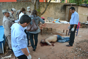 Polícia investiga os quatro homicídios registrados em menos de 24h, na fronteira - Crédito: Foto: Mercosulnews