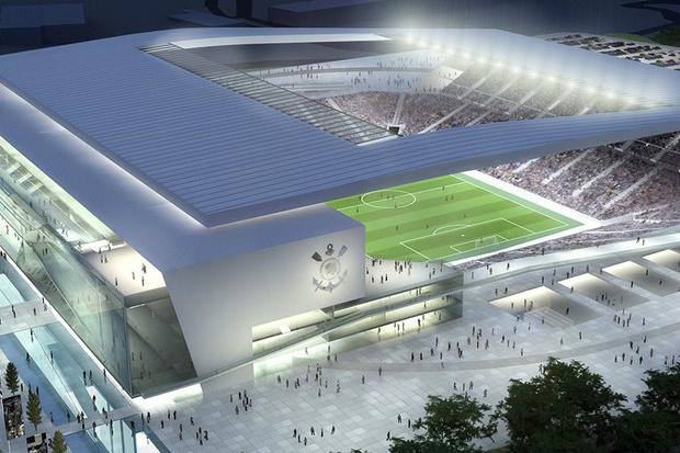 Projeto do estádio, que espera ser anunciado nesta quarta como abertura do Mundial - Crédito: Foto: Divulgação