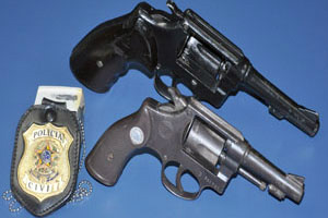 Armas de calibre 32 e 38 fora apreendidas  - Crédito: Foto: Tawany Marry/G1 MS