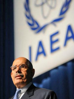 Mohamed ElBaradei em conferência da AIEA de 2009 - Crédito: Foto: Samuel Kubani/AFP