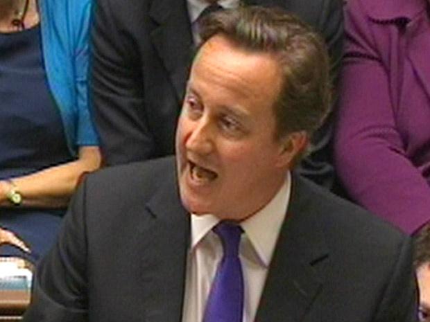 O premiê britânico, David Cameron, fala sobre o caso dos grampos nesta quarta-feira - Crédito: Foto: AP