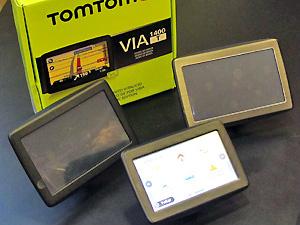 """Novos modelos VIA tem 4,3"""" e 5""""  - Crédito: Foto: Gabriel dos Anjos/G1"""