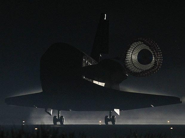 Ônibus espacial Atlantis faz último pouso da frota no Cabo Canaveral, na Flórida - Crédito: Foto: Nasa