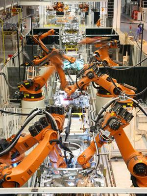 Linha de produção da Volkswagen  - Crédito: Foto: Divulgação