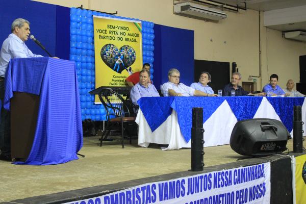 André Puccinelli diz que estará no palanque do seu partido em Dourados no ano que vem para a disputa da prefeitura. - Crédito: Foto: Hedio Fazan