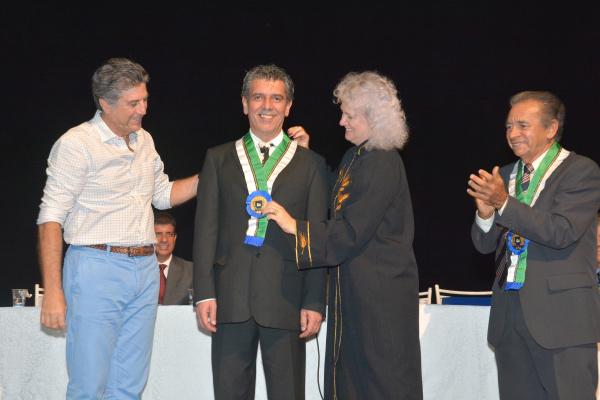 Emmanuel Marinho é empossado como novo imortal da Academia Sul-Mato- Grossense de Letras em Sessão Magna. - Crédito: Foto: Marcos Ribeiro