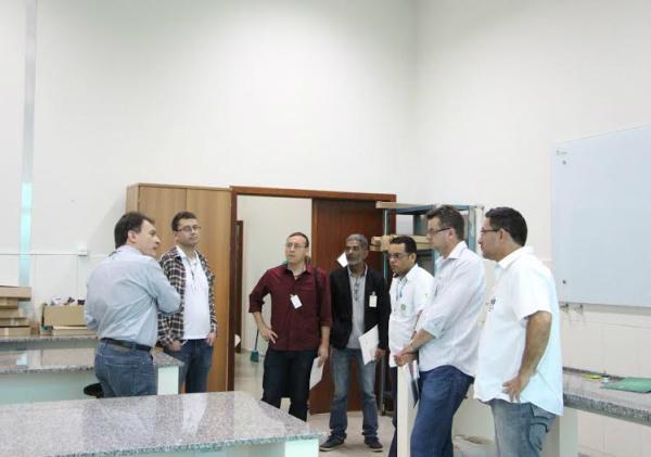 Profissionais da imprensa, durante visita ao Instituto Federal de Mato Grosso do Sul de Ponta Porã. - Crédito: Foto: Divulgação