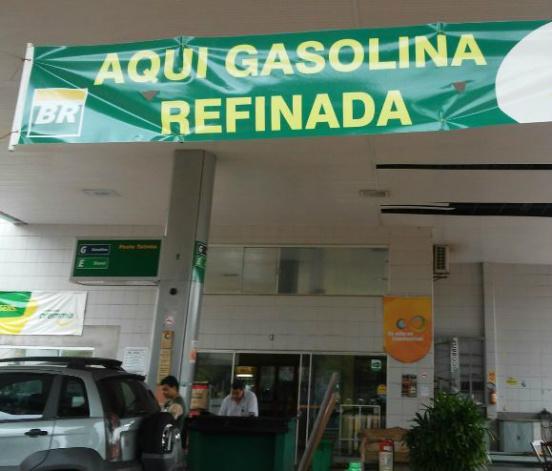 Em Dourados, postos já estão avisando o tipo de gasolina comercializada aos clientes. - Crédito: Foto: Divulgação