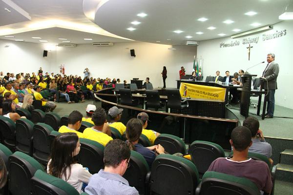 Audiência foi realizada na Câmara de Vereadores de Nova Andradina. - Crédito: Foto: Thiago Odeque