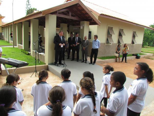 Desembargador João Maria Lós durante inauguração de dois anexos no Educandário Getúlio Vargas. - Crédito: Foto: Elvio Lopes
