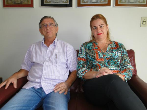 Jaime e Mônica, presidente e diretora do Lar Santa Rita. - Crédito: Foto: Flávio Verão