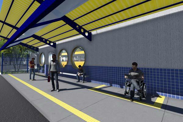 Projeto arquitetônico da Estação de Integração Oeste, que ficará em frente ao parque Antenor Martins. - Crédito: Foto: Reprodução
