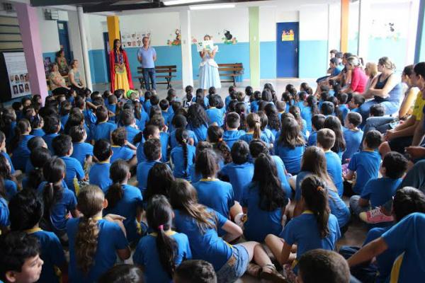 Contação de histórias envolveu  500 alunos  na edição passada. - Crédito: Foto: Divulgação