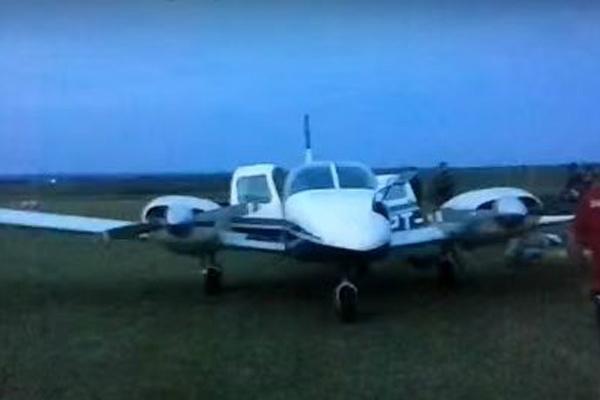 Reprodução de vídeo divulgado pela Polícia Militar de São Paulo mostra avião interceptado. - Crédito: Foto: Reprodução Vídeo