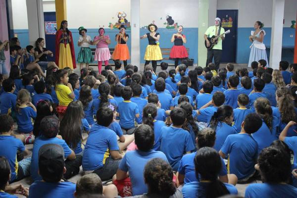 No ano passado, atividade de contação de estórias movimentou mais de 500 alunos em duas  escolas. - Crédito: Foto: Divulgação